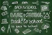 pic of drow  - Back to School Supplies Sketchy chalkboard Doodles lettering with  Swirls - JPG