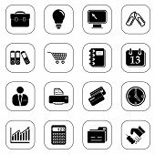 Business icons - B&W series