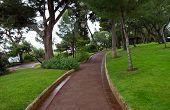 Monaco - Pedestrian Path In Saint Martin Park In Monte Carlo