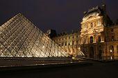 Louvre in night