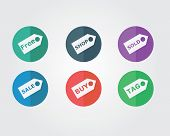 flat icon - sticker