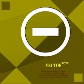 minus. Flat modern web design on a flat geometric abstract background