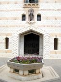Nazareth Basilica Entrance From The Facade Of Mary 2010