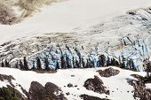 Mount Shuksan Glacier Close Up Evergreens Artist Point Washington State