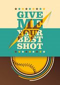 foto of hitter  - Illustrated baseball poster - JPG