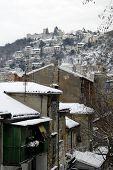 Snow In Rijeka,croatia