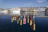 Love Locks In A Port Of Rijeka,Croatia