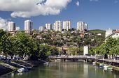 picture of yugoslavia  - Rjecina River and Sky scrapers in Rijeka Croatia - JPG