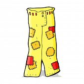 cartoon patched old jeans