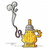 cartoon smoking hookah