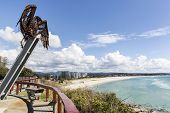 View of Coolangatta beach from Kirra Point Lookout