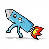 cartoon happy rocket