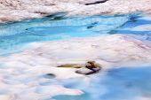 Mount Shuksan Blue Snow Pool Abstract Artist Point Washington Usa
