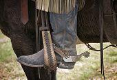 Cowboy Boot no estribo