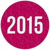 2015 Number On Color Circle Background
