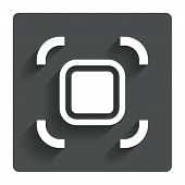Autofocus zone sign icon. Photo camera settings.