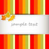 Striped Autumn Background