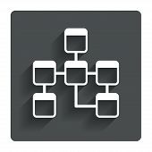 Database sign icon. Relational database schema.