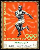 Vintage  Postage Stamp. Thrower.