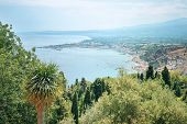 View of one of the most beautiful cities in Sicily - Taormina