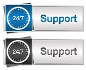 Twenty Four Seven Support Button Style