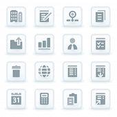 Office web icons set