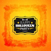 Happy Halloween card. Typography letters font type