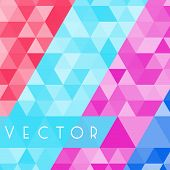 Triangles geometric background