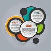 Infographics background with colorful circles - vector illustration
