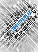 German marketing background - Computerfreak (nerd) - blur and focus