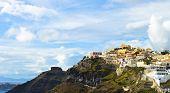 Typical caldera view of Santorini buildings