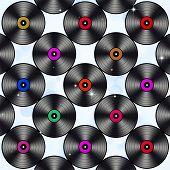 Music Vinyls Party Background