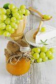 Grape Jam In A Glass Jar