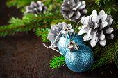 Christmas Tree Spruce Pine Wooden Christmas Balls