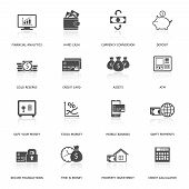 Set of finance and money icons