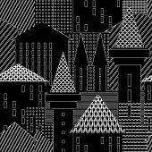 Town. Abstract architectural background. Illustration.