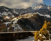 stock photo of italian alps  - a nice view of Italian alps Seriana Valley - JPG
