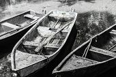Old Boats In A Lagoon