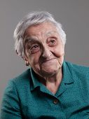 Elderly Woman With Positive Expression