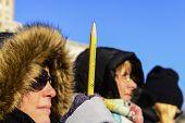 Holding Ticonderoga pencil aloft