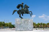 Greece, Thessaloniki. Monument To Alexander The Great On The Waterfront