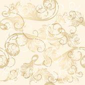 Seamless Pattern With Hand Drawn Swirls