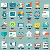 Set Of Flat Business, Commerce, Internet Service Icons For Design - Part 2