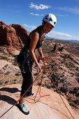 Woman on summit