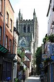 Church Street and Cathedral, Hereford.