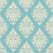 Vector damask seamless pattern background. Elegant luxury texture for wallpapers, backgrounds and pa