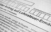 German Tax Form.