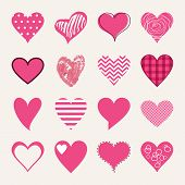 St. Valentine's Day Flat Design Icon Set. Love, Wedding Or Dating Romantic Symbols. Heart, Rings, Lo