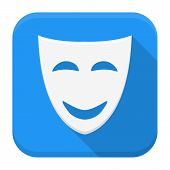 image of comedy  - Vector illustration of comedy mask face - JPG