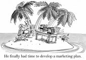 foto of deserted island  - He finally had time to develop a marketing plan - JPG